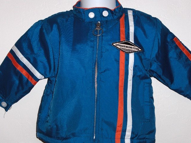 New Appaman Blue racing lined jacket boys size 6