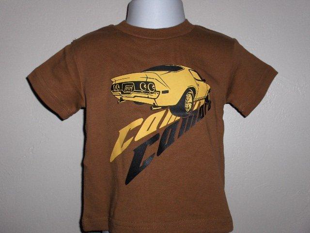 New Appaman Brown short sleeve Camaro car tee boys size 2T