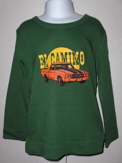 New Appaman Long sleeve green El Camino car tee boys 12 months