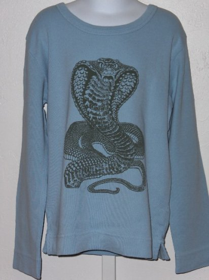 New Appaman Blue long sleeve cobra snake tee boys size 6