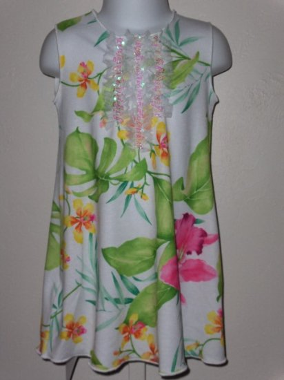 New Kid Rascal Tropical Orchid  with tulle dress girls 12 months