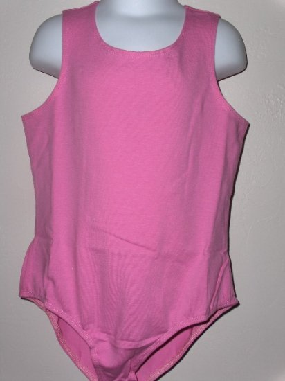 New sleeveless pink leotard girls size medium 7 8