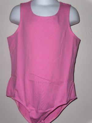New sleeveless pink leotard girls size medium 7 8