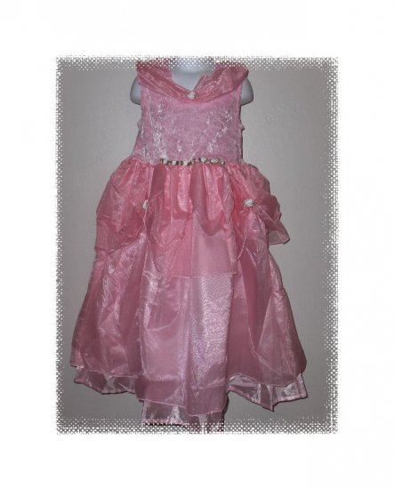 Little Adventures Deluxe Pink Princess Dress Costume girls size M ages 3-5 years