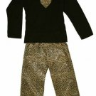 NWT Leopard Print Pajamas from pijayz of Sara's Prints size girls 12