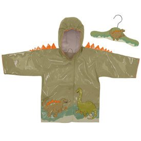 New Kidorable Dinosaur hooded raincoat with hanger set  boys size 5  6