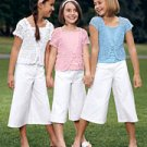 sale New Storybook Heirlooms white gaucho pants girls size 16