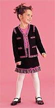 sale Sister Sam Fringed Black Pink Cardigan girls size L 12 14