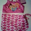 Disney Princess love bikini set 3 pieces girls size 3 3T