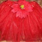 Elegance Red Daisy tutu
