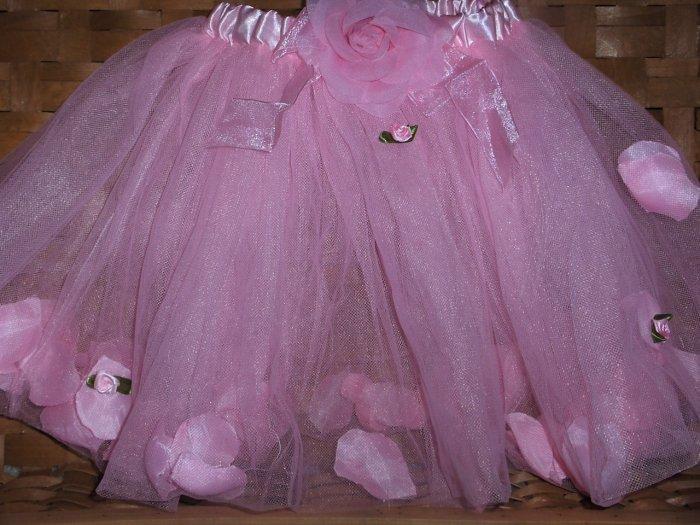 Victoria Pink Rose Petal Tutu