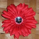 Red Gerbera Daisy Hair Clip