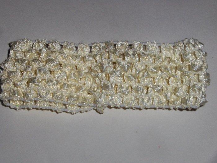 Cream 1.5 inch Crochet Headband