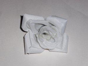 White Rose Flower Hair Clip