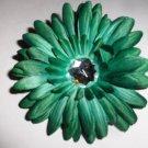 Green 4 inch gerbera daisy hairclip