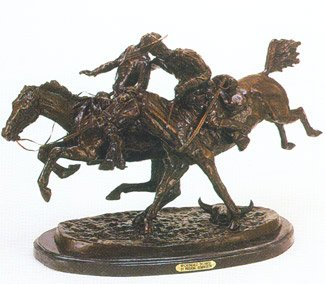 Wounded Bunkie by Frederic Remington