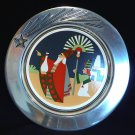 Wilton Armetale Christmas Plate The Departure Ltd Edition Sechrist 1993