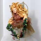 Fairy Flying Ornament Christmas  large 13 inches Christmas Traditions rustic colors