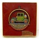 Vintage Hallmark Nostalgia Dated Christmas ornament antique car 1977 Linda Sickman box
