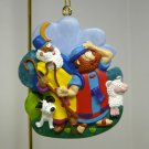 Christmas ornament Shepherds Watched Their Flocks by Night  Saw the Star JRL Bible scene