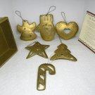 Set of 6 Christmas Ornaments The Reason for the Season goldtone