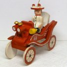 Christmas Ornament antique car woman driver nameplate Margie wood