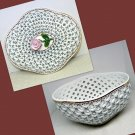 Royal Danube Porcelain 1886 Covered Bowl Reticulated Pierced