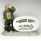 Vintage Emmett Kelly Jr Flambro figurine 1981 Collectors' Society Members Only sign