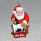 Hallmark Coca Cola Miniature Keepsake Christmas Ornament Collector's Club Cool Santa 1993 KOCC