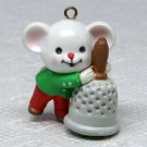 Avon A Merry Little Christmas Miniature Ornament Jingle mouse with a bell