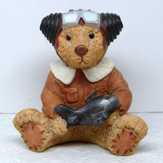 Take Me Home Teddies bear figurine Austin Aviator flying pilot airplane
