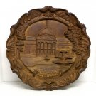 Vtg Wall Plaque Wiesbaden Germany Kurhaus 8-1/2 diameter composition