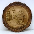 Vtg Wall Plaque Rothenburg Germany Plonlein street  Koboldzellersteig Spitalgasse 5-3/4 inches resin