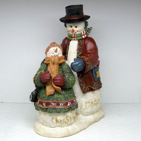 Deb Strain signed snowman snowlady figurine Christmas Magic large RAZ Imports, Inc