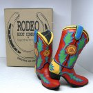 2 Department 56 Dept 56 Christmas Ornaments Rodeo Boot Company red cowboy boots box 1998