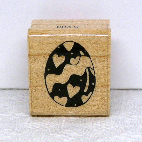 JRL Design Rubber Stamp Small decorated egg
