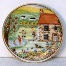 Miniature Collectible Plate from Marco Polo Company summer landscape scene 2 inches diameter