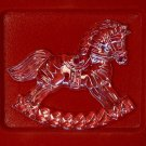 Gorham Crystal Holiday Rocking Horse ornament Germany box