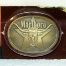 Vintage Marlboro belt buckle brass long steer star original package