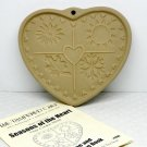 The Pampered Chef Seasons of the Heart cookie mold 1997