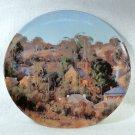 Vtg Bendigo Pottery collector porcelain plate Carcoar Australia Heritage Towns series Chris Huber