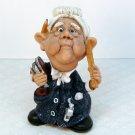 vintage figurine teacher gray hair Pete Apsit