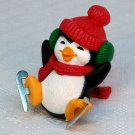 Vintage Hallmark 1983 Merry Miniatures Penguin on metal skates figurine