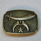 Vintage belt buckle Shriners Jewel of the Order 1978 BTS solid brass