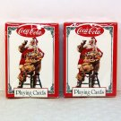 2 decks Coca Cola Santa Playing Cards Christmas 1994 new in wrapper