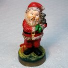 Vintage Hallmark 1976 Merry Miniatures Santa with kitten figurine