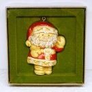 Vtg Hallmark Christmas ornament Santa Tree Treats Collection 1976 Season's Greetings Sue Tague