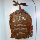 vintage Multi Products Inc Mother and Dad wall plaque 1970s