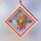 vintage Hallmark Betsey Clark's Christmas Ornament 1980 Tree Trimmer Collection shadowbox