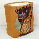 DeGrazia luminary Ho'ok basket of many children hand painted ceramic